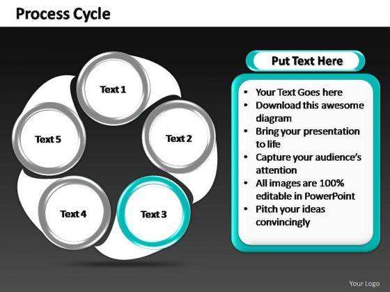 PowerPoint Slide Teamwork Constant Process Ppt Templates