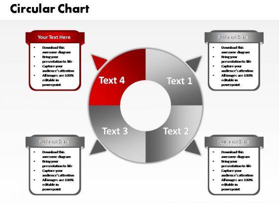 PowerPoint Slide Teamwork Four Circular Ppt Designs