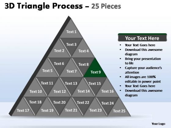 PowerPoint Slide Teamwork Triangle Process Ppt Slide
