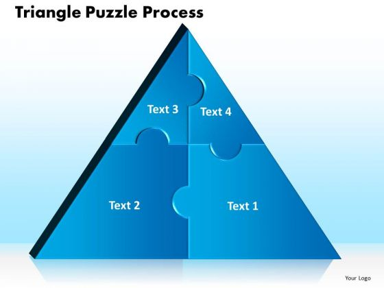 PowerPoint Slide Triangle Puzzle Business Process Ppt Themes