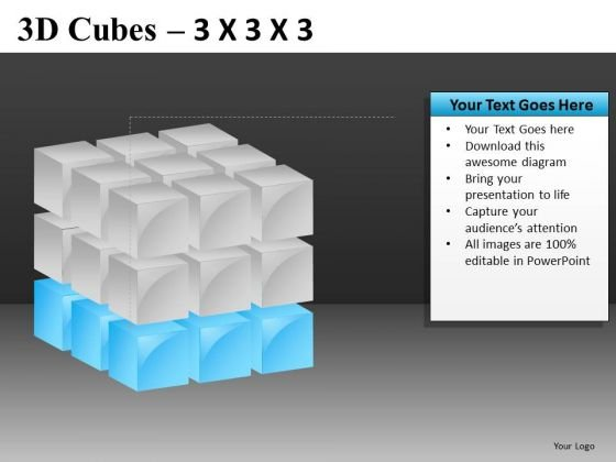 PowerPoint Slide With Bottom Layer Of Cube