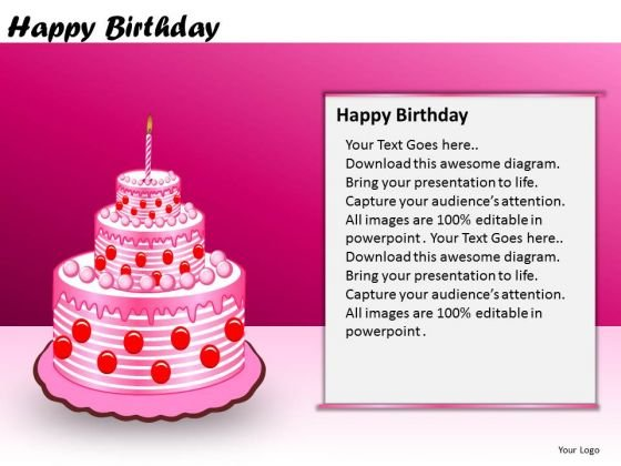 PowerPoint Slidelayout Business Designs Happy Birthday Ppt Layouts