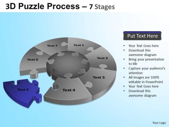 PowerPoint Slidelayout Business Jigsaw Pie Chart Ppt Templates