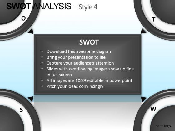 PowerPoint Slidelayout Business Success Goals Swot Analysis Ppt Theme