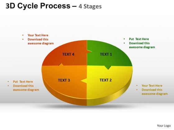 PowerPoint Slidelayout Chart Cycle Process Flow Ppt Themes
