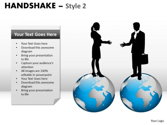 PowerPoint Slidelayout Chart Handshake Ppt Theme