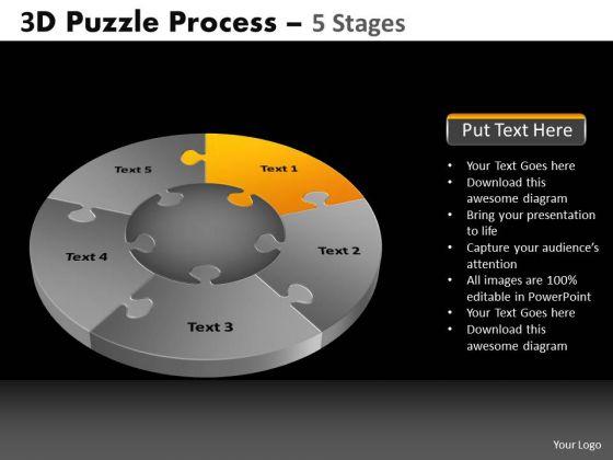 PowerPoint Slidelayout Chart Pie Chart Puzzle Process Ppt Process