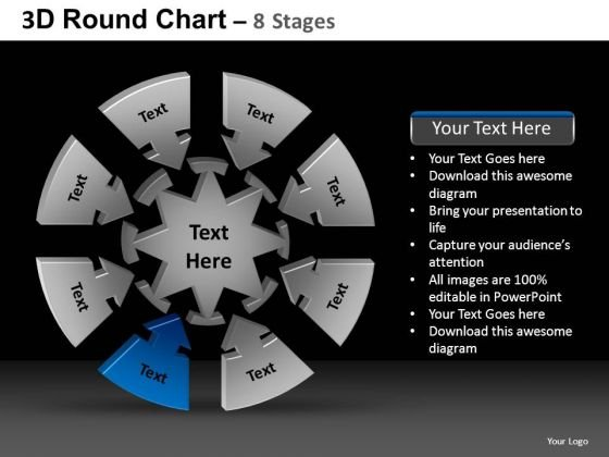 PowerPoint Slidelayout Chart Round Chart Ppt Layouts