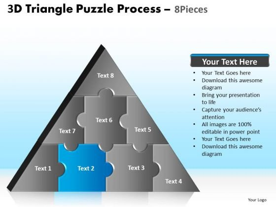 PowerPoint Slidelayout Chart Triangle Puzzle Ppt Template