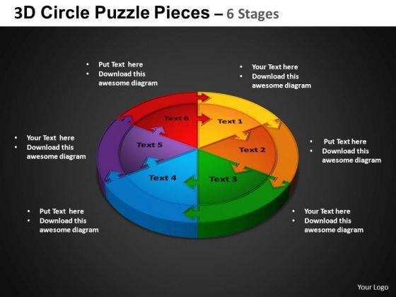 PowerPoint Slidelayout Circular Chart Circle Puzzle Diagram Ppt Designs