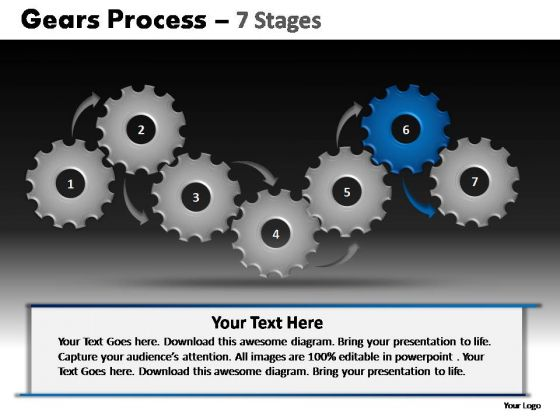 PowerPoint Slidelayout Company Gears Process Ppt Design