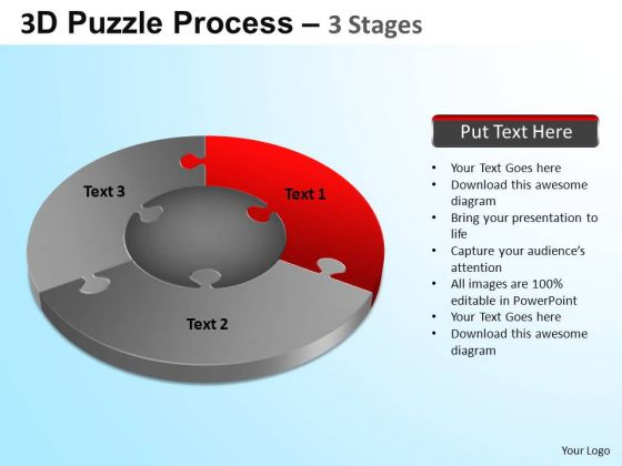 PowerPoint Slidelayout Company Jigsaw Pie Chart Ppt Designs