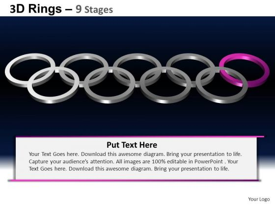 PowerPoint Slidelayout Company Rings Ppt Backgrounds