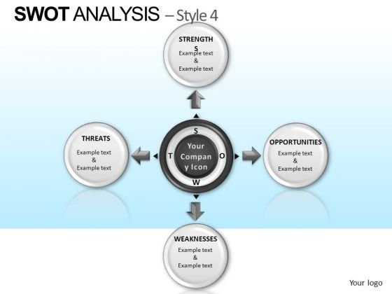 Powerpoint Slidelayout Company Teamwork Swot Analysis Ppt Layout