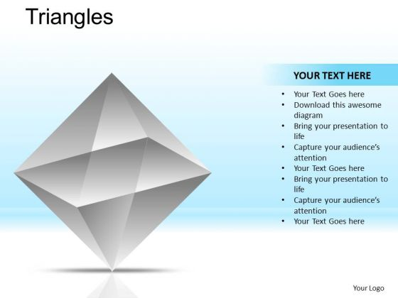 PowerPoint Slidelayout Corporate Leadership Triangles Ppt Templates