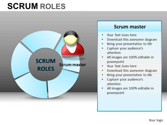 PowerPoint Slidelayout Corporate Teamwork Scrum Process Ppt Design