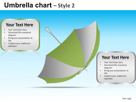 PowerPoint Slidelayout Corporate Teamwork Targets Umbrella Chart Ppt Presentation