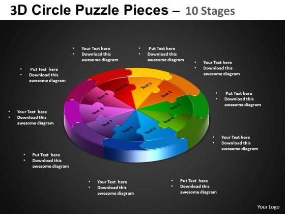 PowerPoint Slidelayout Cycle Chart Circle Puzzle Diagram Ppt Design Slides