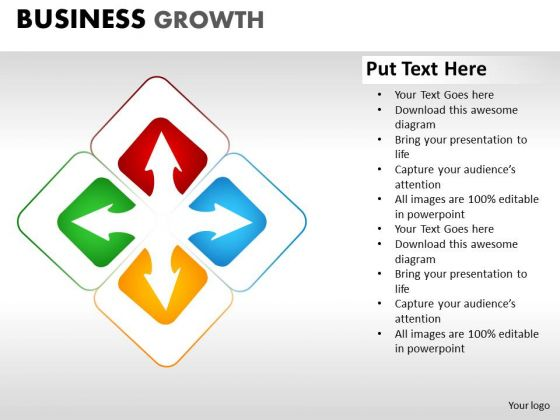 PowerPoint Slidelayout Diagram Business Growth Ppt Backgrounds