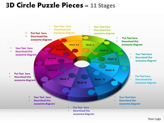 PowerPoint Slidelayout Diagram Circle Puzzle Ppt Process