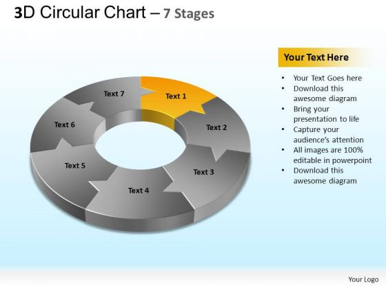 PowerPoint Slidelayout Diagram Circular Chart Ppt Backgrounds