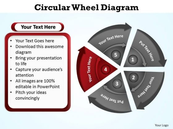 PowerPoint Slidelayout Diagram Circular Wheel Ppt Template