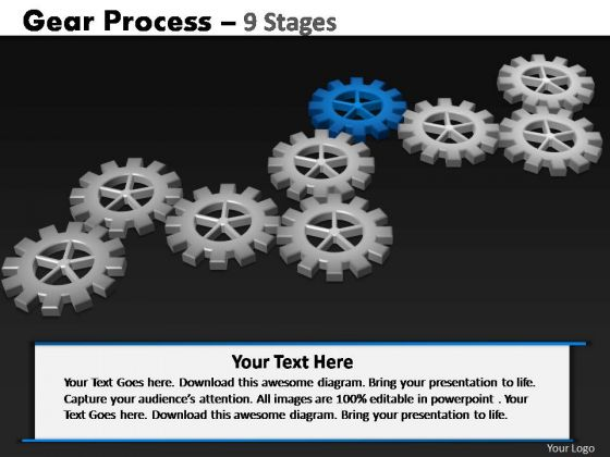 PowerPoint Slidelayout Diagram Gears Process Ppt Backgrounds