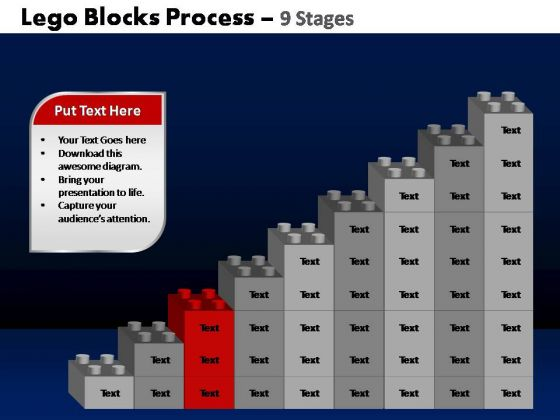 PowerPoint Slidelayout Diagram Lego Blocks Ppt Themes