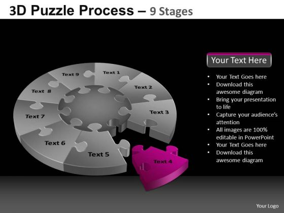 PowerPoint Slidelayout Diagram Pie Chart Puzzle Process Ppt Presentation