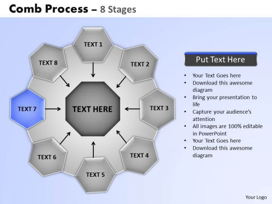 PowerPoint Slidelayout Diagram Wheel And Spoke Process Ppt Template