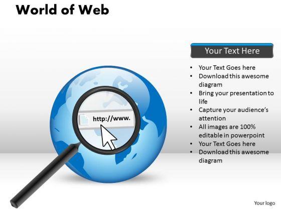 PowerPoint Slidelayout Diagram World Of Web Ppt Design