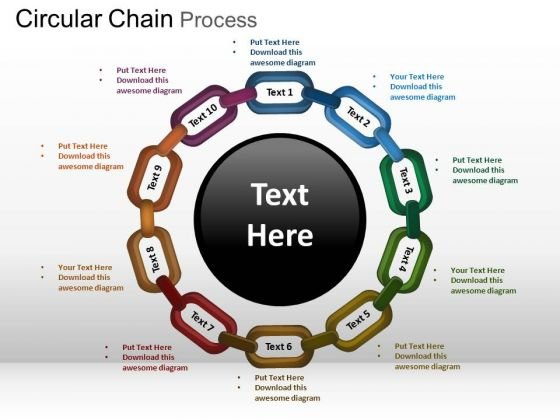PowerPoint Slidelayout Download Circular Chain Ppt Backgrounds