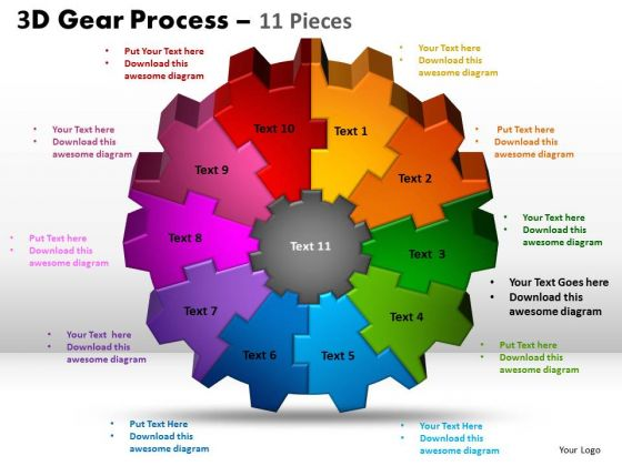 PowerPoint Slidelayout Download Gear Process Ppt Design