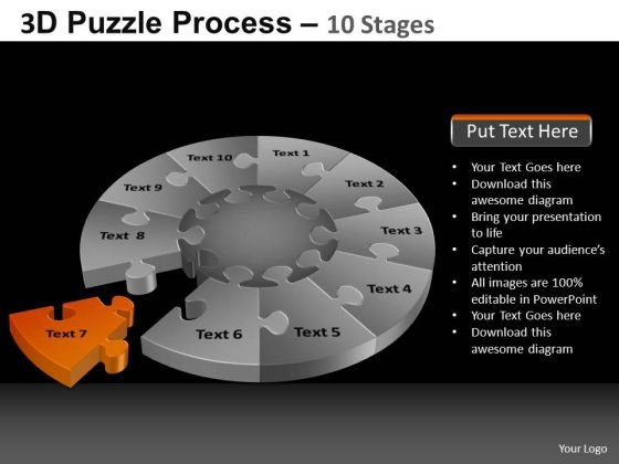 PowerPoint Slidelayout Education Pie Chart Puzzle Process Ppt Design