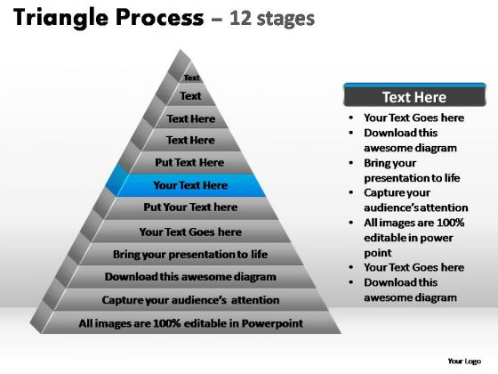 PowerPoint Slidelayout Education Triangle Process Ppt Presentation