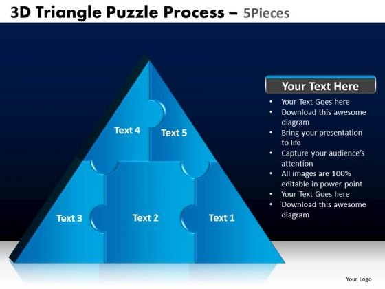 PowerPoint Slidelayout Education Triangle Puzzle Ppt Designs
