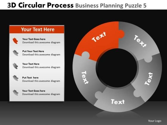PowerPoint Slidelayout Executive Leadership 3d Cycle Chart Process Ppt Design Slides
