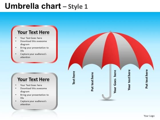 PowerPoint Slidelayout Executive Strategy Umbrella Chart Ppt Themes