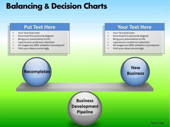 PowerPoint Slidelayout Executive Success Balancing Decision Charts Ppt Theme