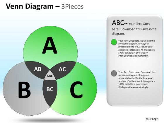 PowerPoint Slidelayout Executive Teamwork Venn Circle Chart Diagram Ppt Process