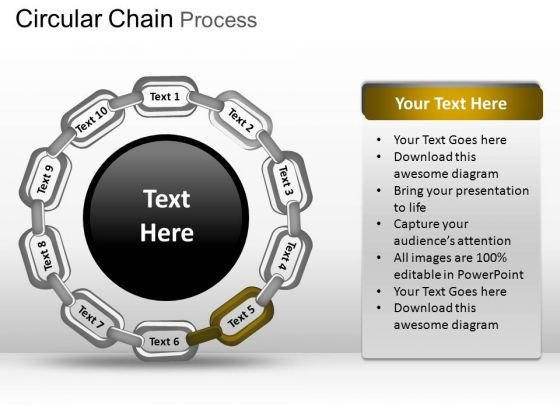 PowerPoint Slidelayout Global Circular Chain Ppt Templates