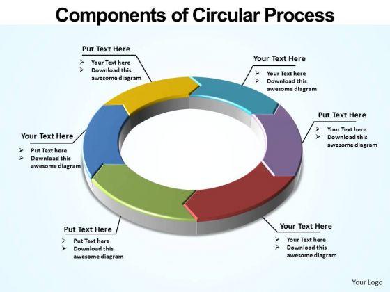 PowerPoint Slidelayout Global Circular Process Ppt Design