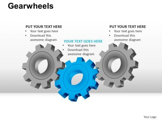 PowerPoint Slidelayout Global Gear Wheel Ppt Backgrounds