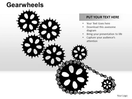PowerPoint Slidelayout Global Gear Wheel Ppt Design Slides