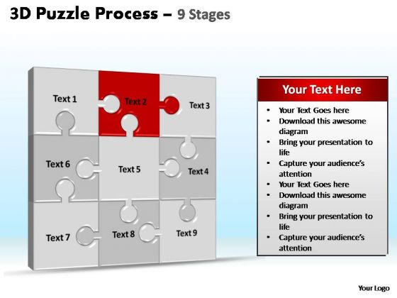 PowerPoint Slidelayout Global Puzzle Process Ppt Design