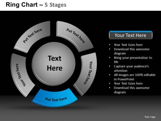 PowerPoint Slidelayout Global Ring Chart Ppt Design