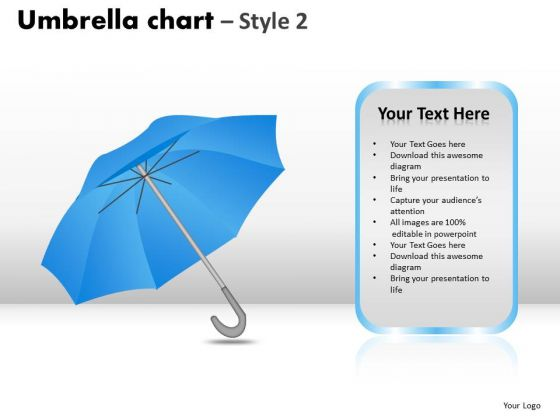 PowerPoint Slidelayout Global Umbrella Chart Ppt Designs