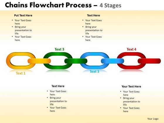 PowerPoint Slidelayout Graphic Chains Flowchart Ppt Slide
