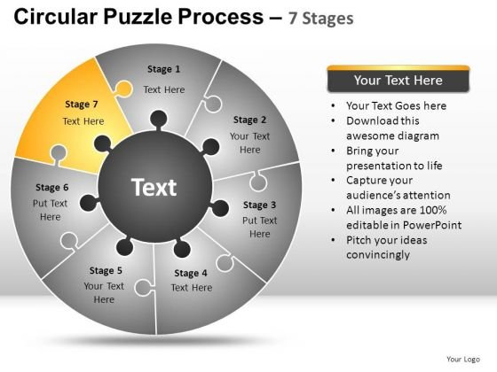 PowerPoint Slidelayout Graphic Circular Puzzle Ppt Layout