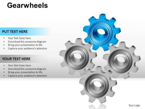 PowerPoint Slidelayout Graphic Gear Wheel Ppt Presentation